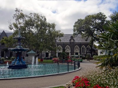 Fountain in front of Canterbury Museum