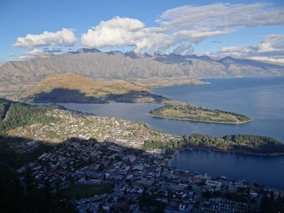 View on Queenstown from Ben Lomond Mountain