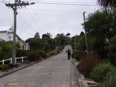 Walking up the steepest street in the world