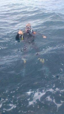 First ocean dive
