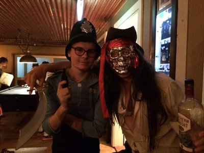 Police Man and Jack Sparrow