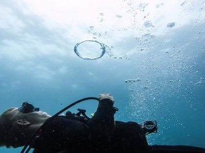 Doesnt matter where I am, pool or ocean, you can always do bubble rings