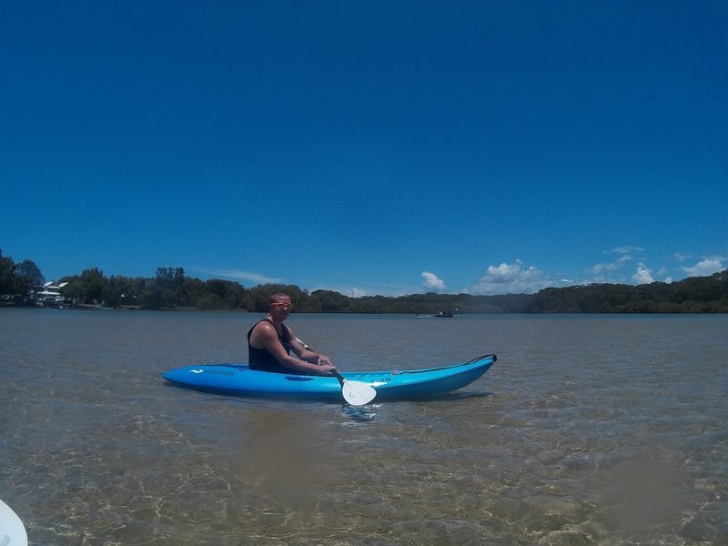 Sean and I kayaking