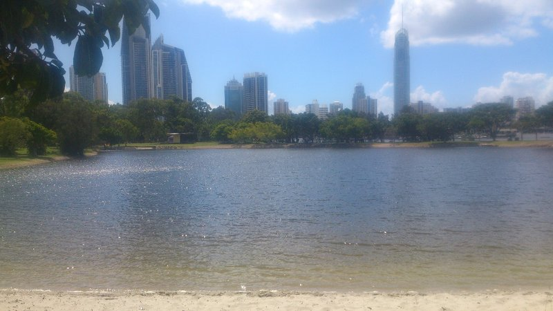 Park in Surfers Paradise where we stopped