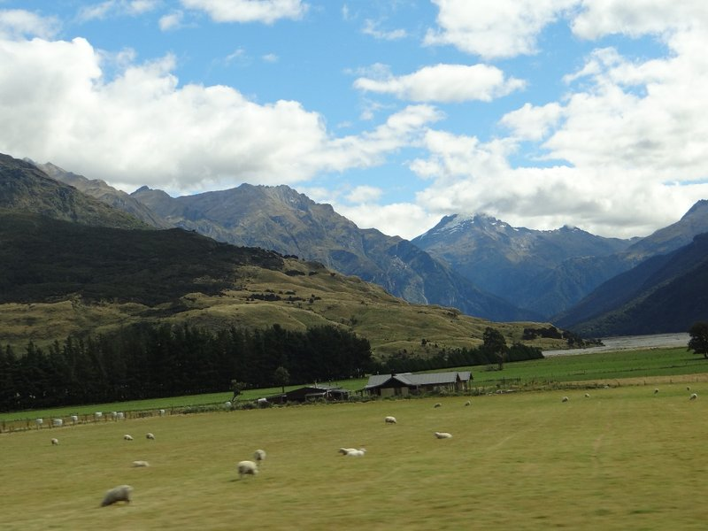 View out of the window on Mount Aspiring Nat. Park
