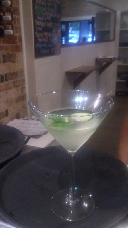 Mint and Cucumber Martini