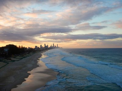 Surfers Paradise sunset from Mick Schamburg Park