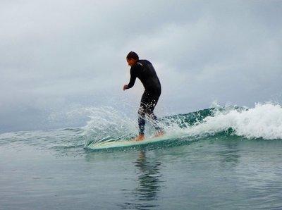 Chris Surfing