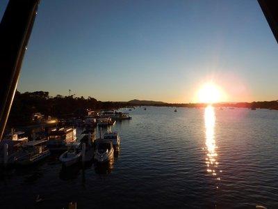 Sunset Bar sunset boats