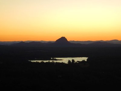 Sunset from Timberwah to Mt Cooroy