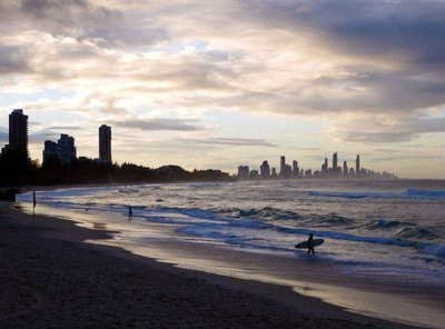 Surfer Sunset Surfers Paradise
