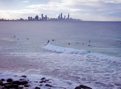 Surfers at Burleigh Head