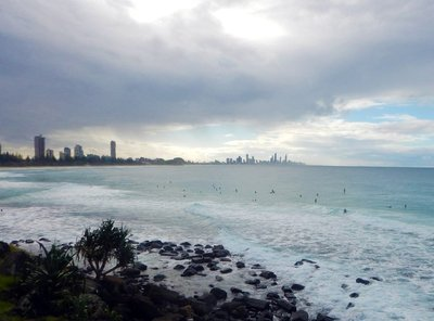 Surfers at Burleigh Head2