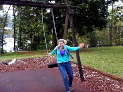 Swing Charlotte Jumping off