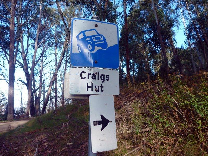 Craigs Hut Sign