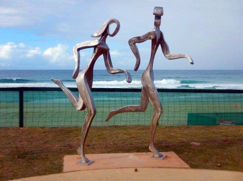 Nobby Beach Statue