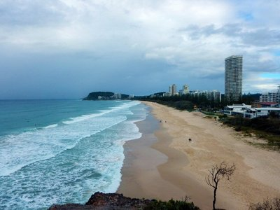 towards Burleigh Head