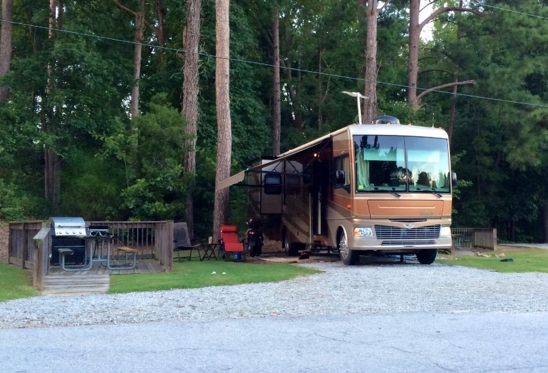 RV site at Stone Mountain