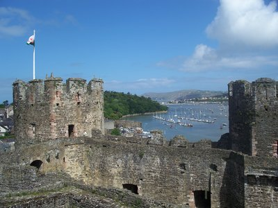 Conwy castle and bay
