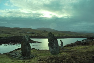 Callanish standing stones on Great Bernara Island