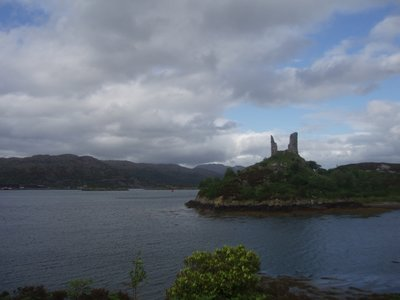 Castle and harbor on Skye