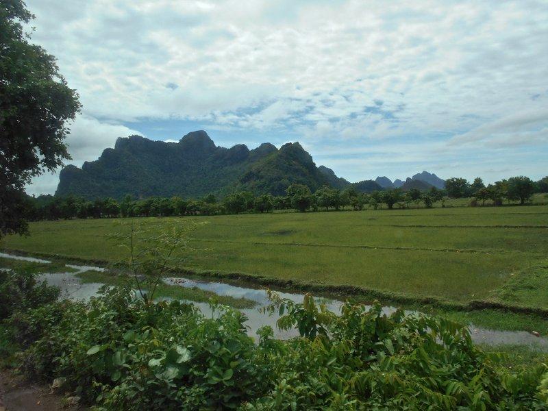 Scenery on the way to Yangon