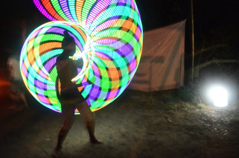 hula hooping in the dark