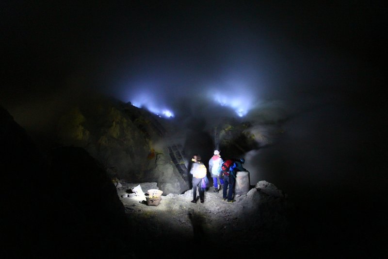 Miners working at Ijen