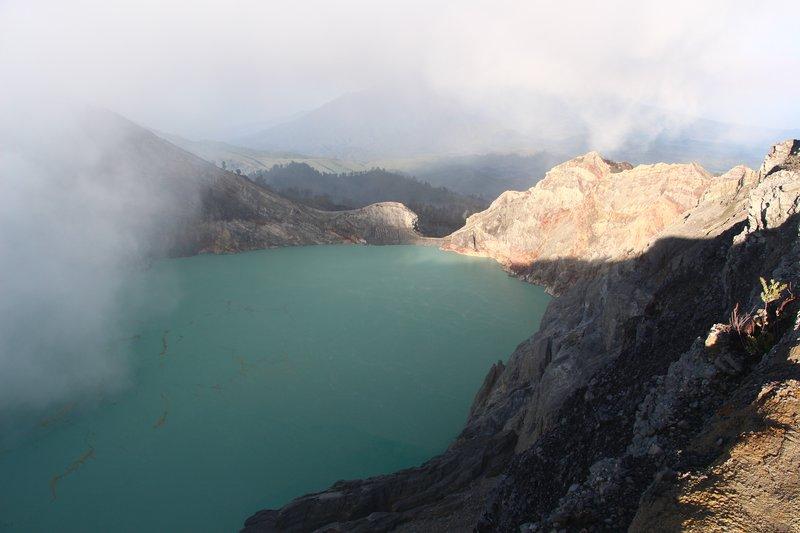 Crater lake at Ijen