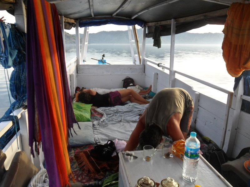 Sleeping in the boat