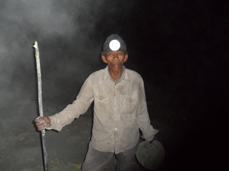 Miner at the crater