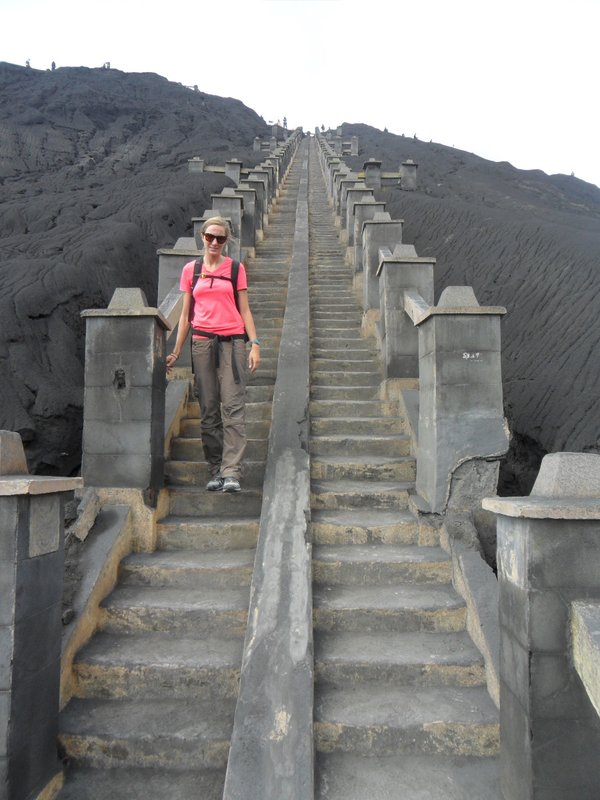 Bromo crater stairs