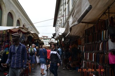 Leather market at San Lorenzo