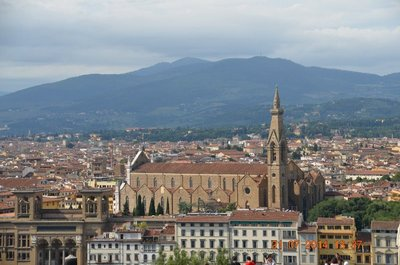 Santa Croce church as seen from Piazzale Michelangelo
