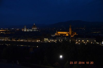 Beautifully lit city