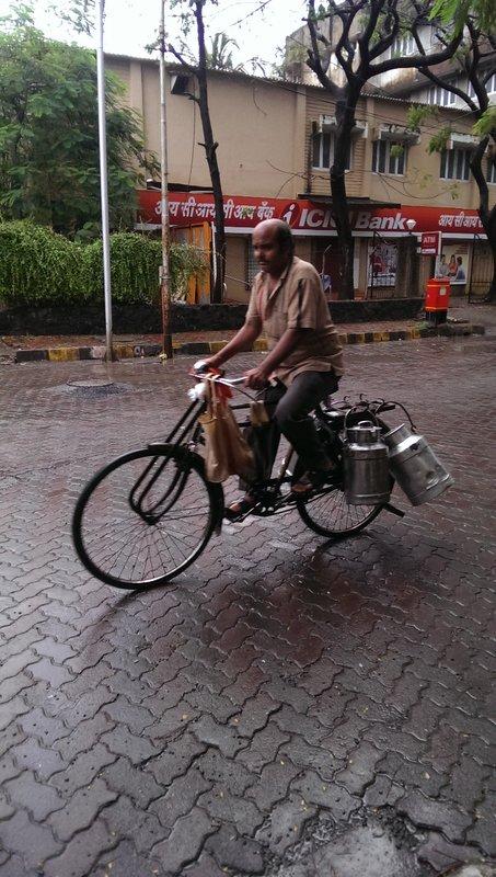 Vendeur de Chai sur son vélo