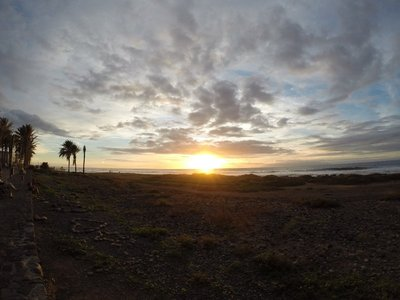 Sunset in Playa de Las Americas (Tenerife)