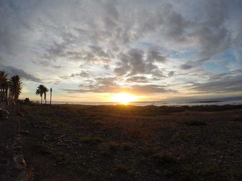 Sunset in Playa de Las Americas (Tenerife)