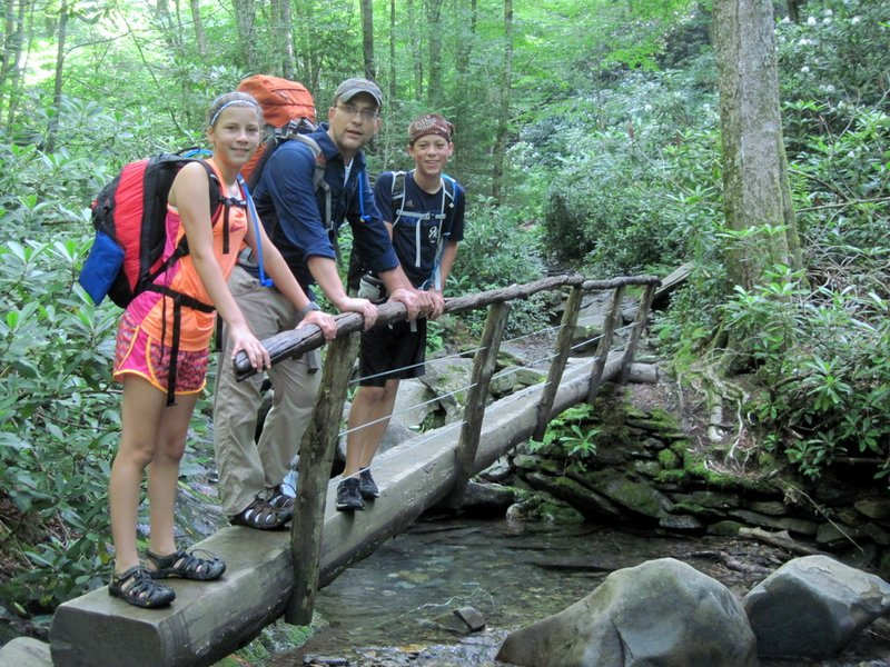 Hiking to LeConte with all the Ude family