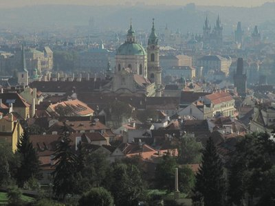 Prague View in the Gathering Mist