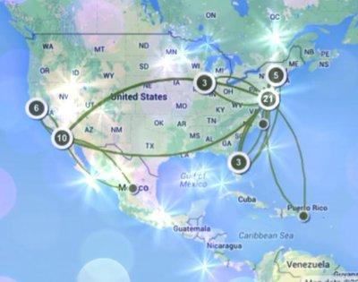 travelerspoint map 2013-2014