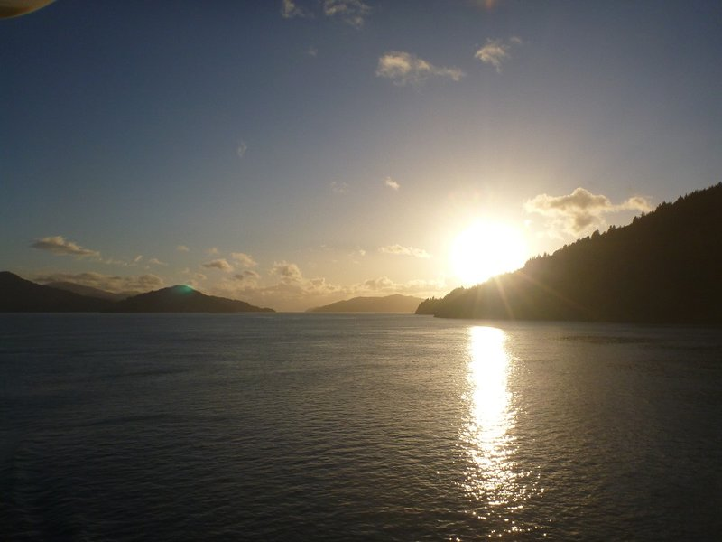 Dawn at Queen Charlotte Sound