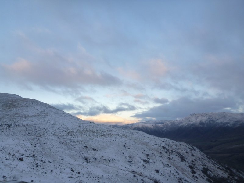 Sunset at Cardrona
