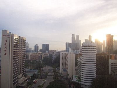 View from our window for our first morning in Singapore