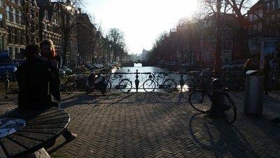 Por do sol - Canais de Amsterdã