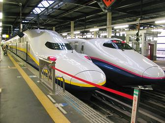 Morioka - Shinkansen trains