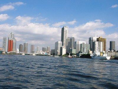 Tokyo - Skyline from Sumidagawa river