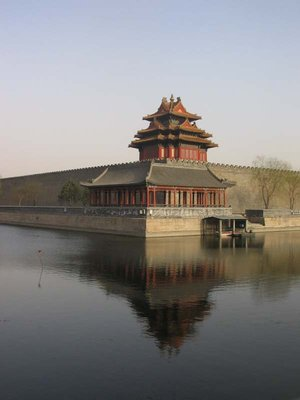 Beijing - Rear corner of Forbidden City from outside