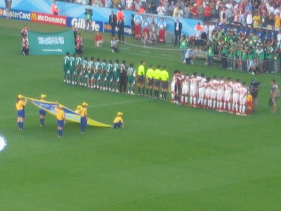 WC Munich - Tunisia v Saudi Arabia line up at the start