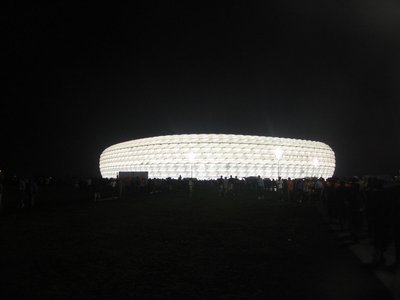 WC Munich - Stadium looking like a UFO after Serbia-Montenegero v Cote d'Ivoire